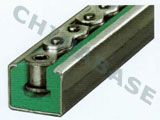 Chain guides for roller chains