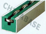 Chain guides for round link chains