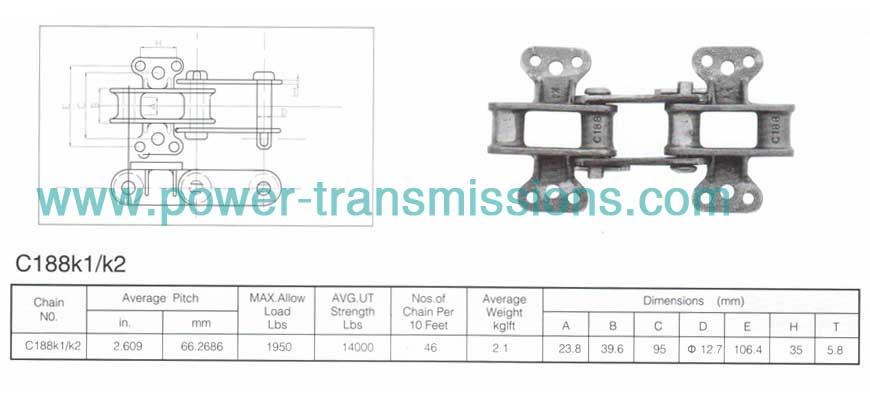 Cast Iron Chain C188K1/K2 manufacturer, Chain supplier