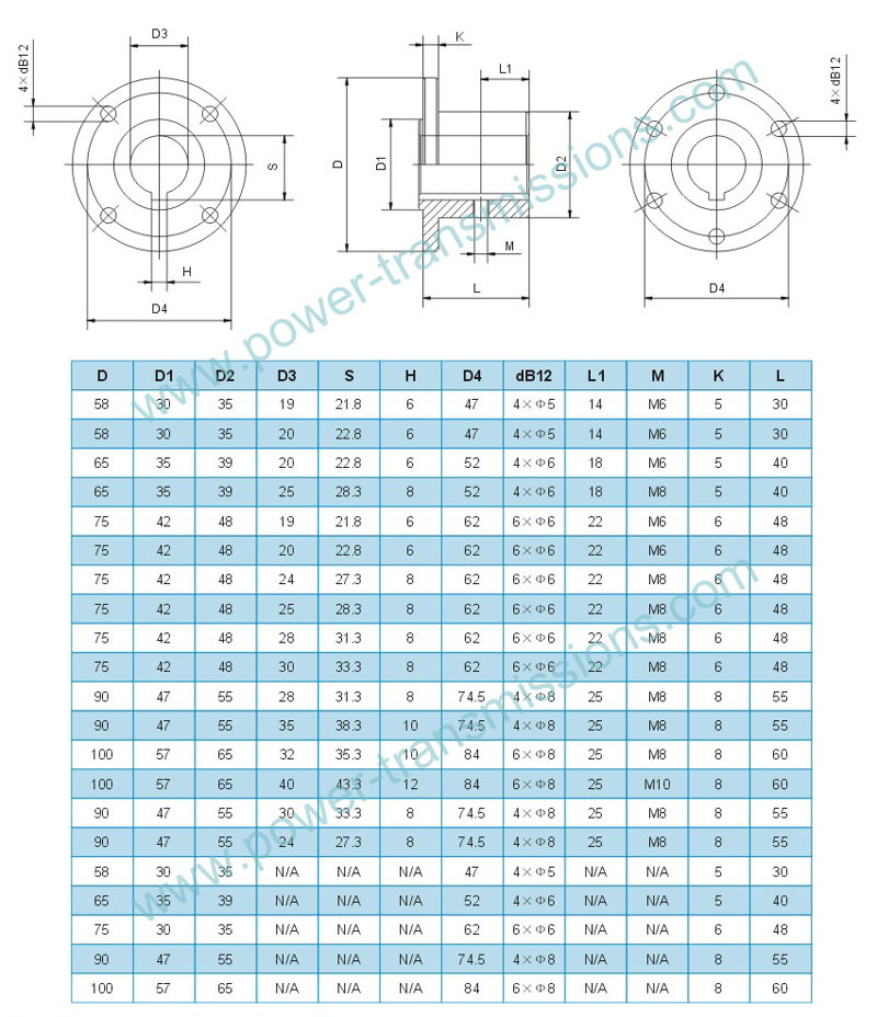 Flange Constructed Drawings and parameters
