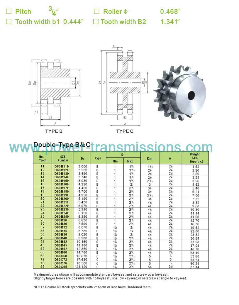 Stock Sprockets No.60-2